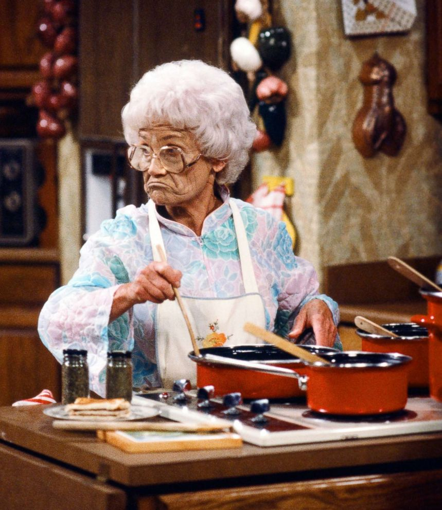 PHOTO: Estelle Getty starred as Sophia Petrillo on The Golden Girls. Despite playing Bea Arthurs mother in the show, Getty was a year younger than Arthur in real life.