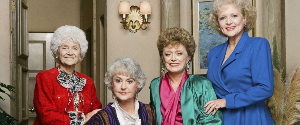 "PHOTO: Estelle Getty, Bea Arthur, Rue McClanahan and Betty White appear in an undated publicity photo for their show, ""The Golden Girls."""