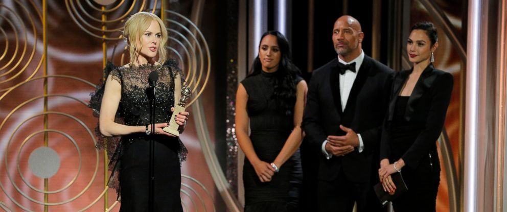 """PHOTO: Nicole Kidman accepts the Golden Globe for her role in """"Big Little Lies,"""" Jan. 7, 2018, at the 75th annual Golden Globe Awards in Beverly Hills, Calif."""