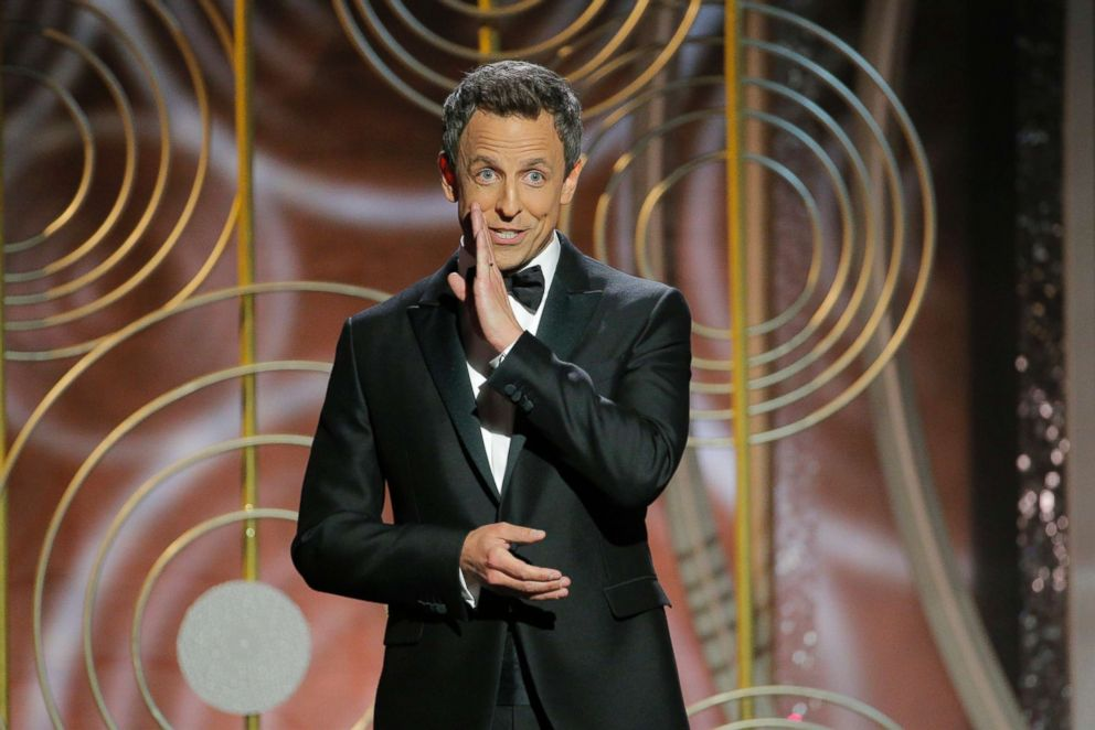 PHOTO: Host Seth Meyers onstage during the 75th annual Golden Globes Awards in Beverly Hills, Calif. Jan. 7, 2018.
