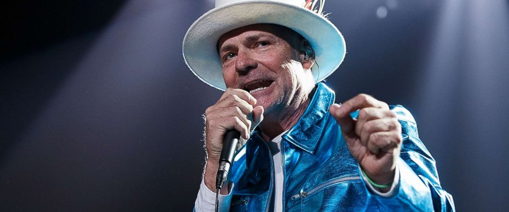 "PHOTO: Gord Downie of The Tragically Hip performs onstage during their ""Man Machine Poem Tour"" at Rogers Arena, July 24, 2016 in Vancouver."