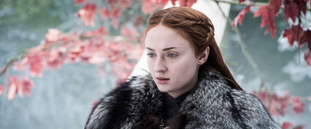 PHOTO: Sophie Turner on season 7 of Game of Thrones, 2017.