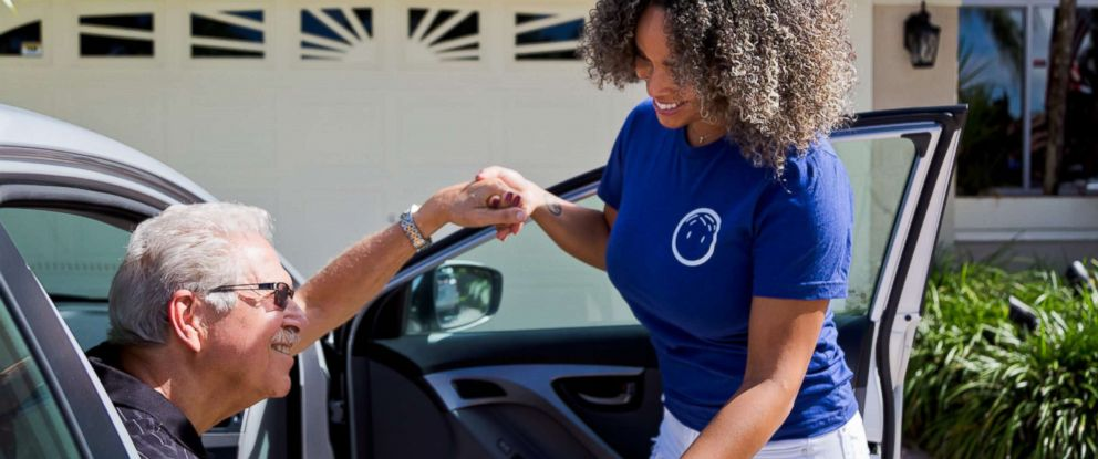 """PHOTO: The company, PAPA offers """"grandkids on-demand,"""" and pairs college students to senior citizens who need help in various ways like transportation, filling prescriptions, help around the house or just if they need a friend."""