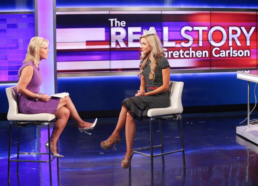 PHOTO: FOX News Anchor Gretchen Carlson Interviews Miss America 2015 Kira Kazantsev at FOX Studios on Sept. 16, 2014, in New York City.
