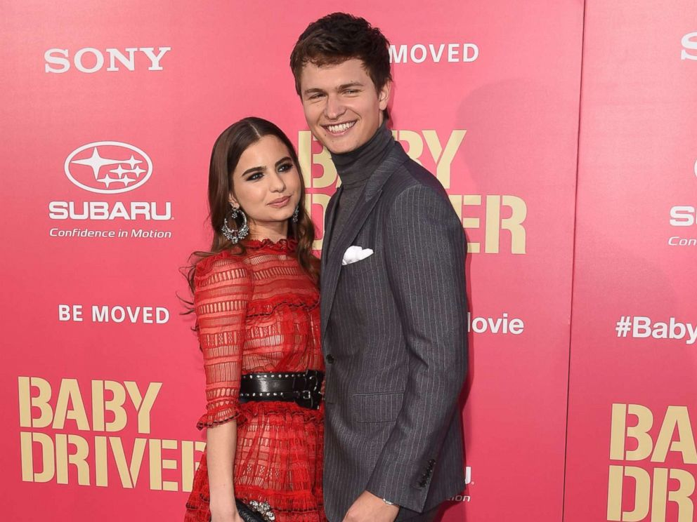 PHOTO: Ansel Elgort and Violetta Komyshan attend the premiere of Baby Driver, June 14, 2017, at The Theatre at the Ace Hotel in Los Angeles.