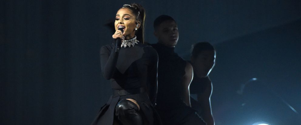 """PHOTO: Ariana Grande performs onstage during her """"Dangerous Woman"""" tour at Madison Square Garden, Feb. 23, 2017, in New York."""