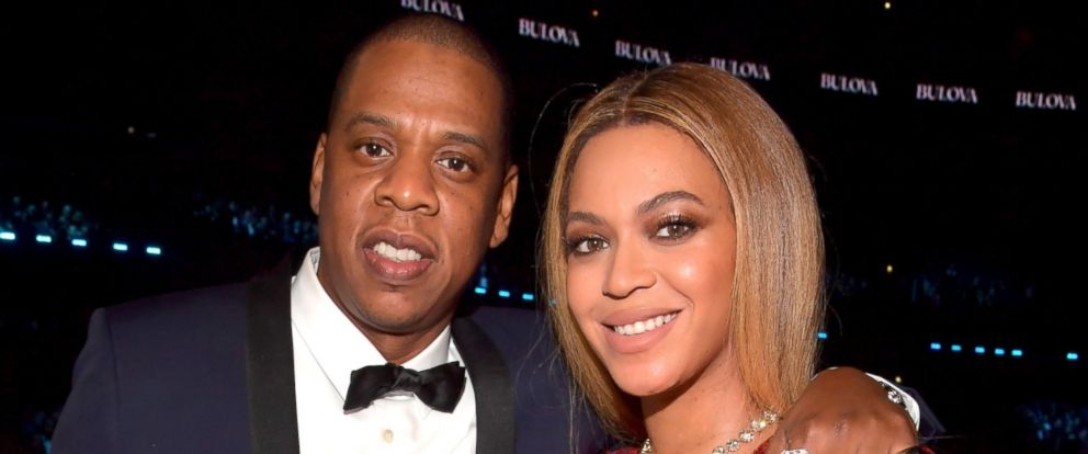 PHOTO: Jay Z and Beyonce pose during The 59th GRAMMY Awards, Feb. 12, 2017, in Los Angeles.
