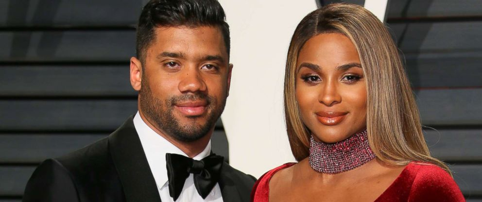 PHOTO: Russell Wilson and Ciara attend the 2017 Vanity Fair Oscar Party on Feb. 26, 2017 in Beverly Hills, Calif.