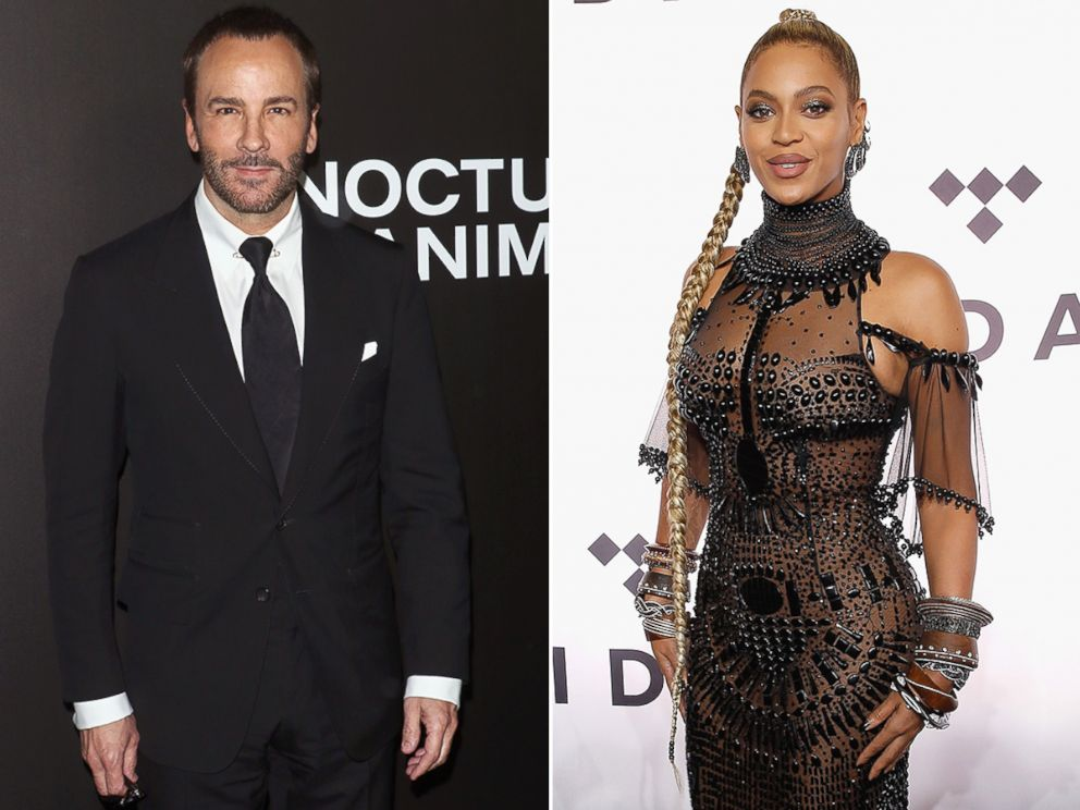 PHOTO: Tom Ford attended the Nocturnal Animals New York premiere at The Paris Theatre, Nov. 17, 2016, in New York. Beyonce attends TIDAL X: 1015 at Barclays Center, Oct. 15, 2016, in New York.
