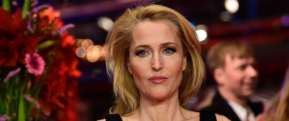"""PHOTO: Gillian Anderson arrives for the screening of the film """"Viceroys House"""" in competition at the 67th Berlinale film festival in Berlin, Feb. 12, 2017."""