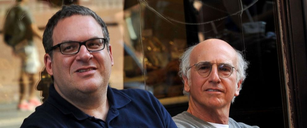 "PHOTO: Jeff Garlin and Larry David on location for ""Curb Your Enthusiasm,"" July 27, 2010, in New York."