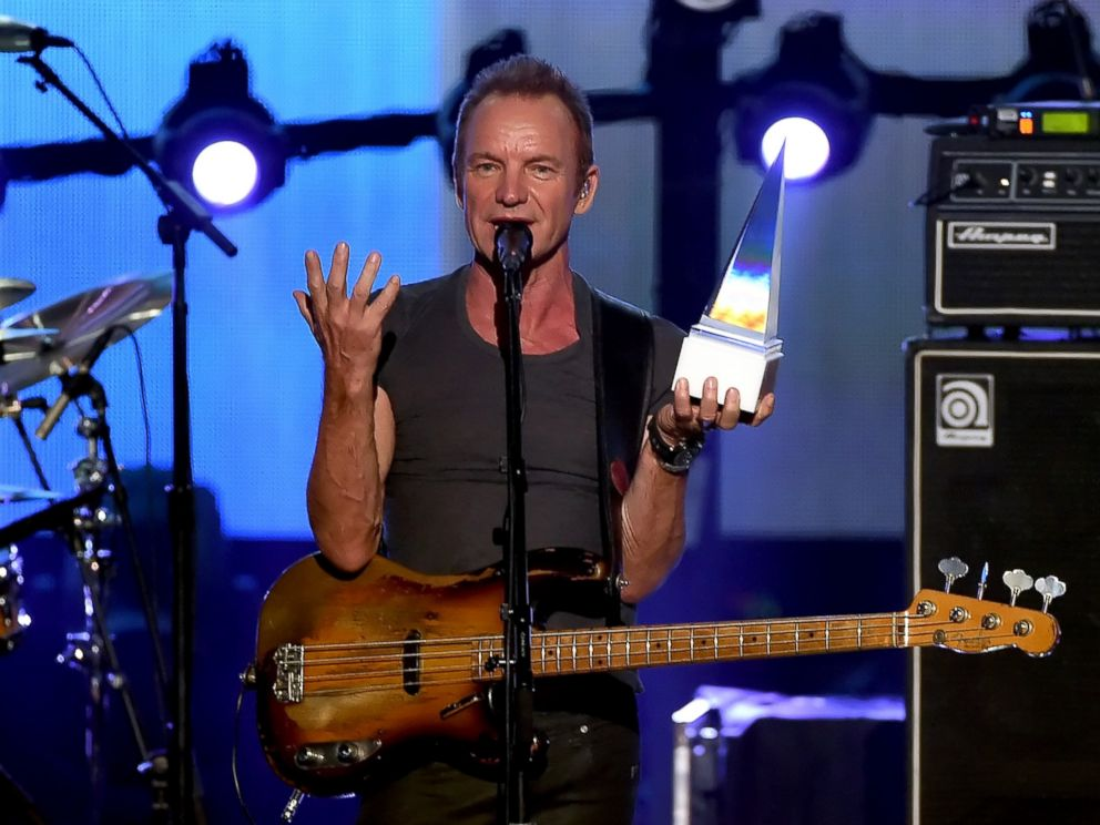 PHOTO: Sting accepts the Award of Merit onstage during the 2016 American Music Awards at Microsoft Theater in Los Angeles, Nov. 20, 2016.