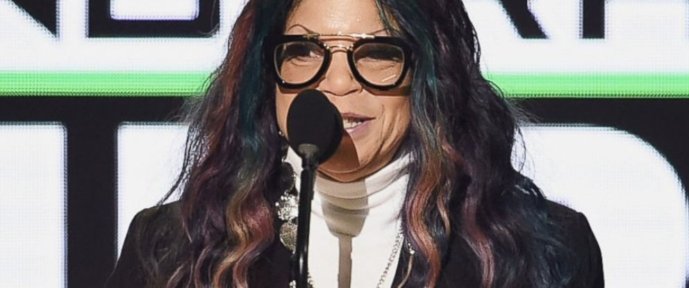 PHOTO: Tyka Nelson accepts Top Soundtrack for Purple Rain on behalf of her brother, the late musician Prince, onstage during the 2016 American Music Awards at Microsoft Theater in Los Angeles, Nov. 20, 2016.