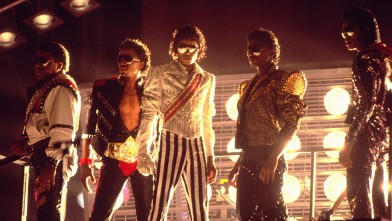PHOTO:From left: Tito, Marlon, Michael, Randy and Jermaine Jackson perform during the Jackson 5 Victory Tour.