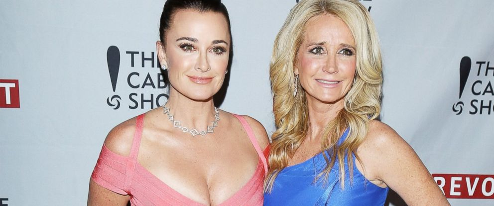 PHOTO:In this file photo, Kyle and Kim Richards arrive at an event, April 30, 2014, in Los Angeles.