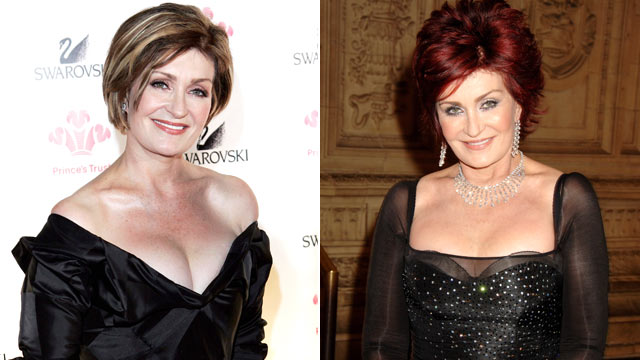 PHOTO: Sharon Osbourne, left, arrives at the Swarovski Fashion Rocks for The Prince's Trust event, Oct. 17, 2005, in Monte Carlo, Monaco, and, right, at the National Television Awards 2007 on Oct. 31, 2007 in London.
