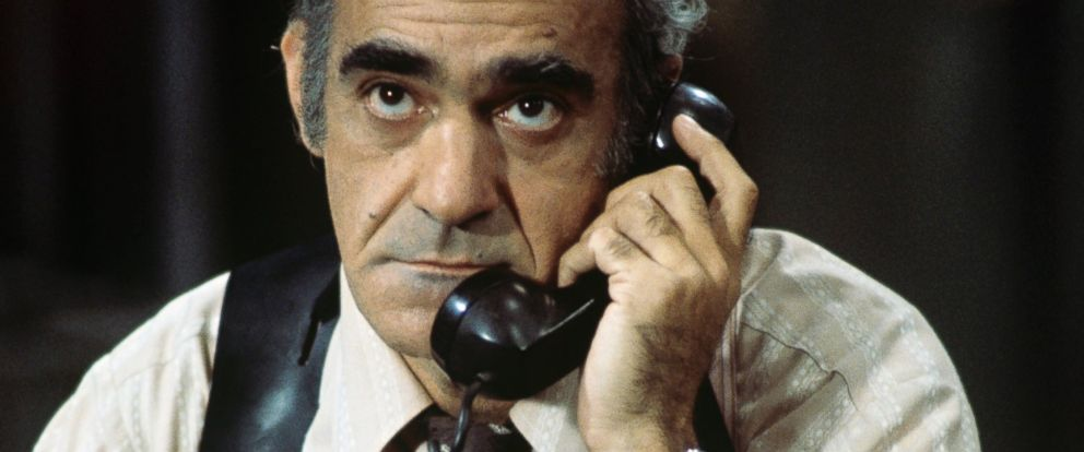 "PHOTO: Abe Vigoda is seen in a still from the Sept. 30, 1976 episode of ""Barney Miller."""