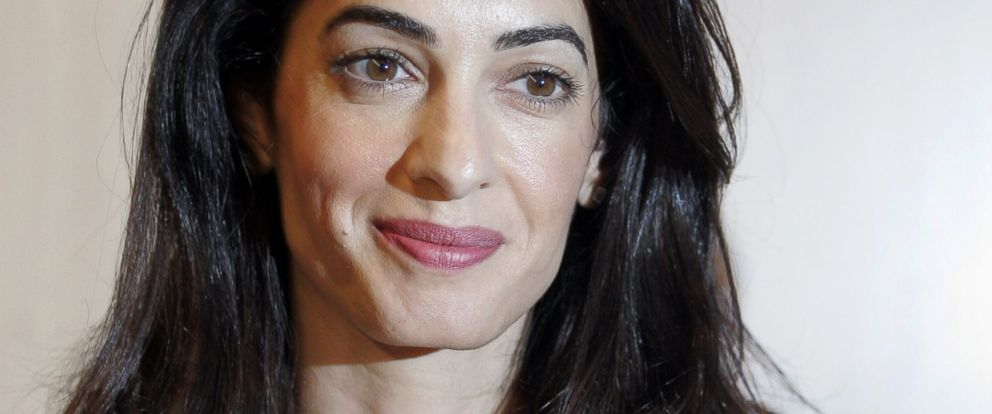 PHOTO: Amal Alamuddin Clooney attends a press conference at the Acropolis Museum in Athens on Oct. 15, 2014 in Athens, Greece.