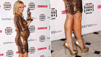 PHOTO: Amanda Holden poses in the press room at the Cosmopolitan Ultimate Women Of The Year Awards 2011 at the Banqueting House on Nov. 3, 2011 in London, England.