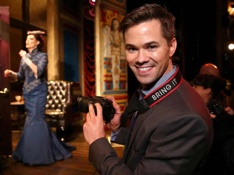 PHOTO: Andrew Rannells hosts the Canon #BRINGIT Tour Of NYC at A Gentlemans Guide to Love and Murder on Dece. 3, 2014 in New York City.