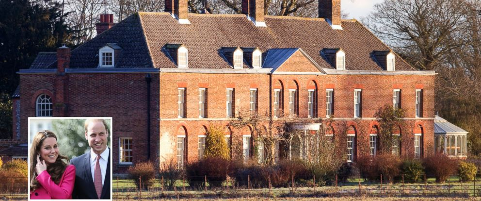 PHOTO: Anmer Hall is Duchess Kate and Prince Williams 10-bedroom home on the queens Sandringham Estate in Norfolk.