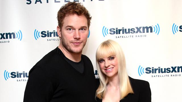 PHOTO:Chris Pratt and Anna Faris visit the SiriusXM Studios in New York, Oct. 15, 2013.
