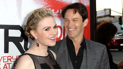 "PHOTO: Anna Paquin and Stephen Moyer attend HBO's Season 5 Premiere Of ""True Blood"" at ArcLight Cinemas Cinerama Dome, May 30, 2012 in Hollywood, Calif."
