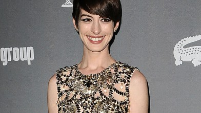 PHOTO: Actress Anne Hathaway attends the 15th annual Costume Designers Guild Awards at The Beverly Hilton Hotel on February 19, 2013 in Beverly Hills, California.