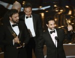 PHOTO: Producer Grant Heslov accepts the Best Picture award for ?Argo? onstage during the Oscars held at the Dolby Theatre on February 24, 2013 in Hollywood, California.