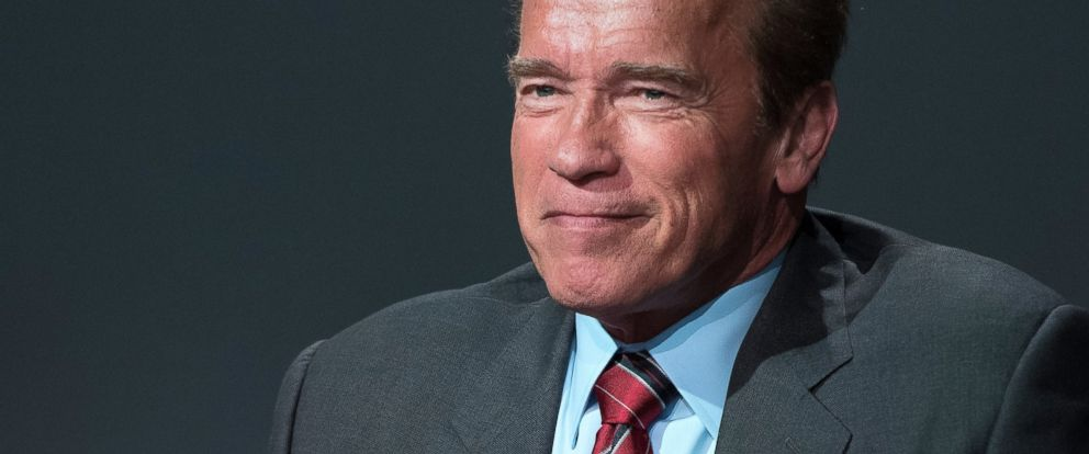 "PHOTO: Arnold Schwarzenegger attends Apple Store Soho Presents Tribeca Film Festival: Henry Hobson and Arnold Schwarzenegger, ""Maggie"" at Apple Store Soho on April 22, 2015 in New York City."