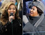PHOTO: Beyonce sings the National Anthem at the inauguration, Jan. 21, 2013. ; Singer Aretha Franklin performs during the inauguration ceremony for President  Obama at the U.S. Capitol in Washington, D.C., Jan. 20, 2009.