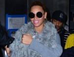PHOTO: Beyonce Knowles and her daughter Blue Ivy Carter seen on the streets of Manhattan on March 27, 2012 in New York City.