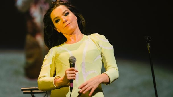 PHOTO: Bjork performs at the Stopp - Lets Protect the Park nature benefit concert at Harpa Concert Hall on March 18, 2014 in Reykjavik, Iceland, March 18, 2014.