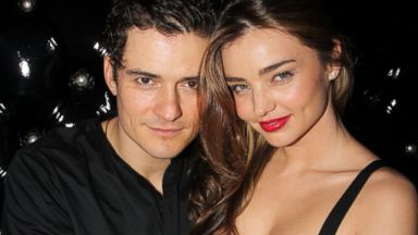 "PHOTO: Orlando Bloom and wife Miranda Kerr attend the after party for the Broadway opening night of ""Shakespeares Romeo And Juliet"" at The Edison Ballroom, Sept. 19, 2013 in New York City."
