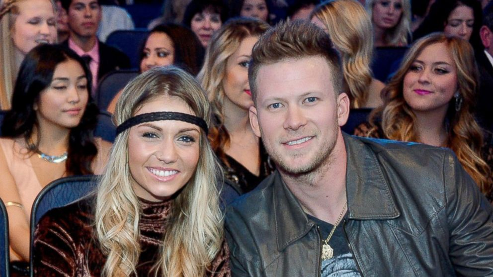 Brian Kelley and Brittney Marie Cole attend the American Music Awards on November 24, 2013 in Los Angeles, Calif.