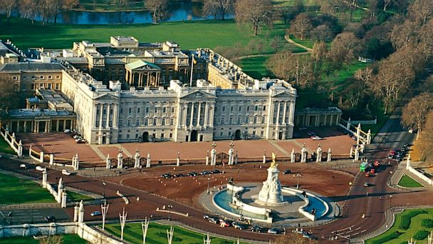 PHOTO: Aerial view of Buckingham Palace in London.
