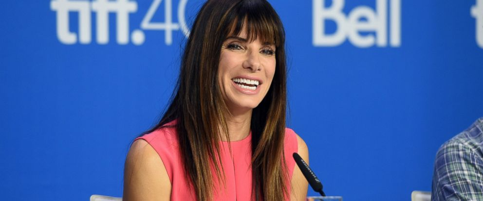 """PHOTO: Sandra Bullock speaks onstage during the """"Our Brand Is Crisis"""" press conference at the 2015 Toronto International Film Festival on Sept. 12, 2015 in Toronto."""