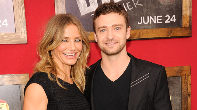 "PHOTO: Cameron Diaz and Justin Timberlake attend the New York premiere of ""Bad Teacher"" at the Ziegfeld Theatre on June 20, 2011 in New York City."