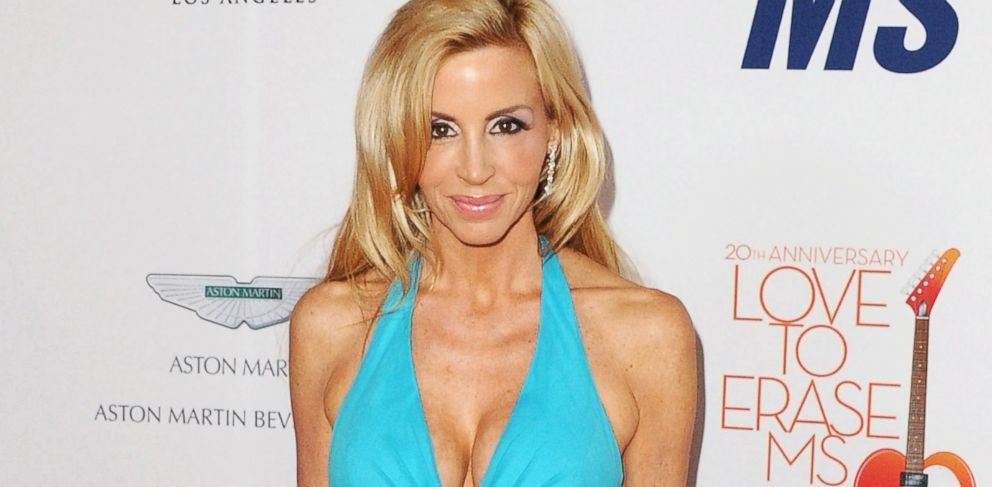 PHOTO: Camille Grammer arrives at the 20th annual Race To Erase MS, Love To Erase MS gala at the Hyatt Regency Century Plaza, in Century City, Calif., in this May 3, 2013 photo.