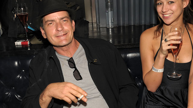 PHOTO: Charlie Sheen and Natalie Kenly attend Chateau Nightclub & Gardens on April 30, 2011 in Las Vegas, Nevada.