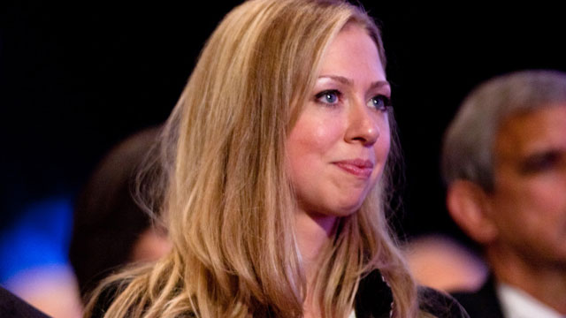 PHOTO: Daughter of former US President Bill Clinton Chelsea Clinton sits during the closing Plenary session of the seventh Annual Meeting of the Clinton Global Initiative (CGI), Sept. 22, 2011 in New York City.