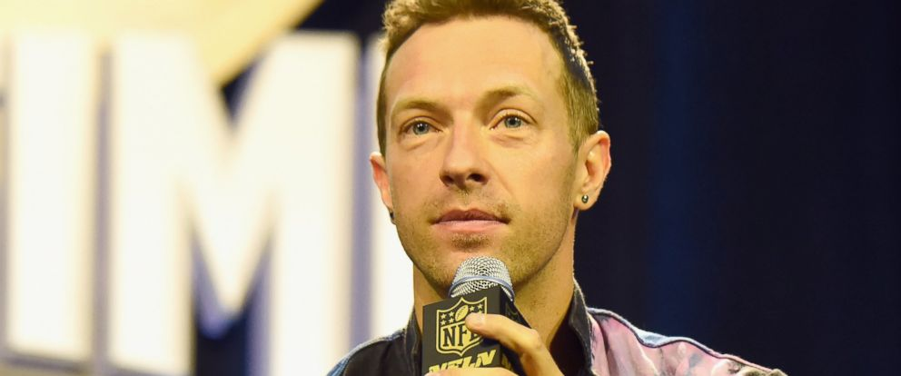 PHOTO: Chris Martin of Coldplay speaks onstage at the Pepsi Super Bowl Halftime Press Conference on Feb. 4, 2016 in San Francisco, Calif.