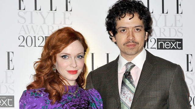 PHOTO: Christina Hendricks and Geoffrey Arend arrive for The Elle Style Awards 2012 at The Savoy Hotel in this Feb. 13, 2012 file photo in London, England.