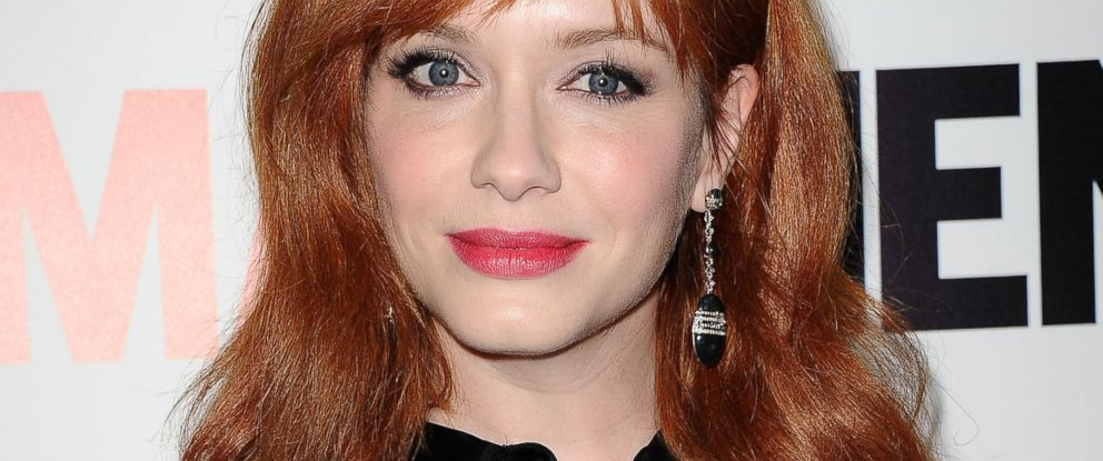 """PHOTO: Actress Christina Hendricks attends the season 7 premiere of """"Mad Men"""" at ArcLight Cinemas on April 2, 2014 in Hollywood, California."""