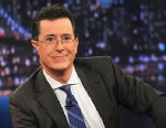 "PHOTO: Stephen Colbert visits ""Late Night With Jimmy Fallon"" at Rockefeller Center on February 21, 2013 in New York City."
