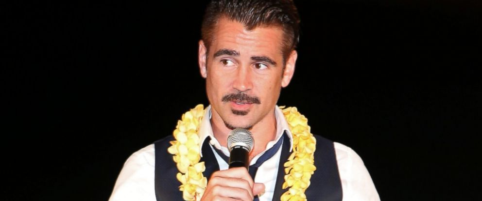 PHOTO: Actor Colin Farrell receives the 2015 Maui Film Festival Navigator Award during day two of the 2015 Maui Film Festival on June 4, 2015 in Wailea, Hawaii.