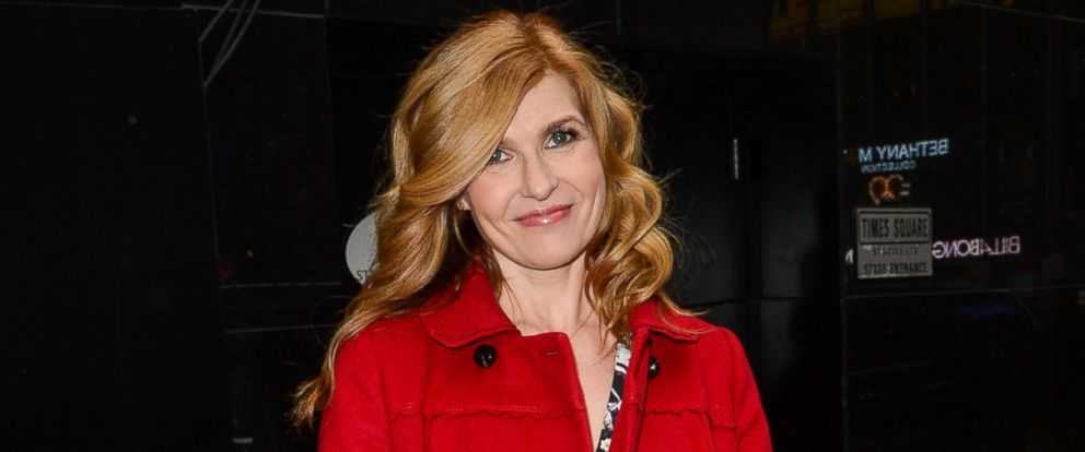 """PHOTO: Actress Connie Britton leaves the """"Good Morning America"""" taping at the ABC Times Square Studios on April 2, 2014 in New York City."""