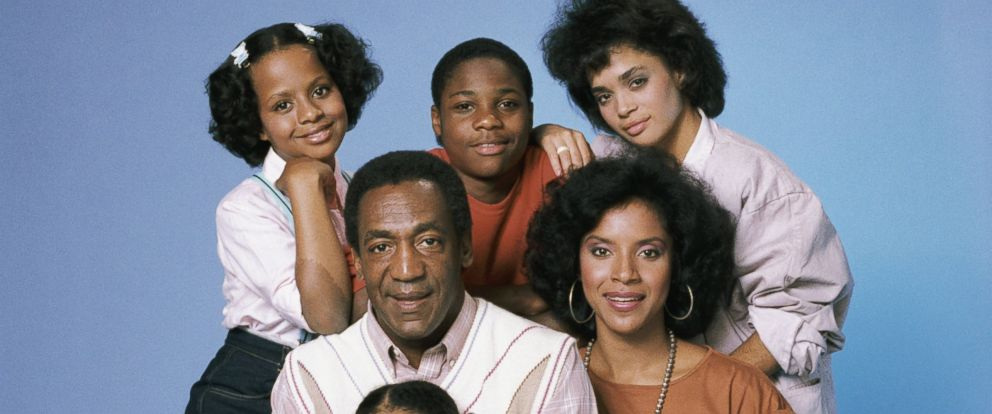 "PHOTO: Tempestt Bledsoe as Vanessa Huxtable, Malcolm-Jamal Warner as Theo Huxtable, Lisa Bonet as Denise Huxtable, Phylicia Rashad as Clair Hanks Huxtable, Keshia Knight Pulliam as Rudy Huxtable, Bill Cosby as Dr. Cliff Huxtable from ""The Cosby Show""."