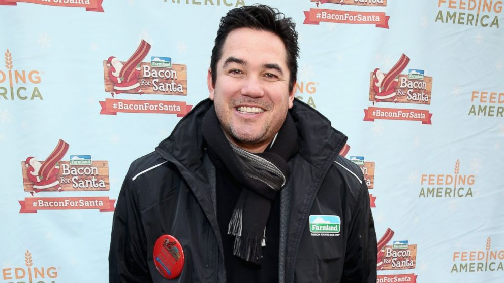 Dean Cain and Farmland rally with Santa Claus in Herald Square Park pledging #BaconForSanta to help fight hunger this holiday season with Feeding America on Dec. 4, 2014 in New York City.