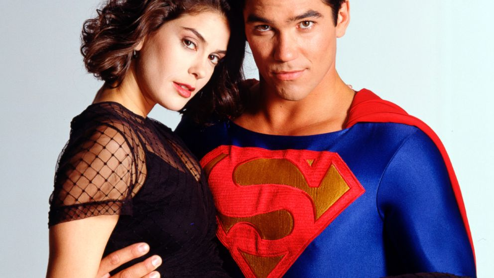 "Teri Hatcher and Dean Cain pose for a photo for ""Lois and Clark: The New Adventures of Superman,"" Aug. 16, 1994."